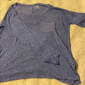 Blue Long Sleeve Old Navy Shirt with Pocket